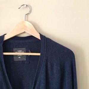 H&M LOGG Men's Navy Blue Knit Grandpa Sweater